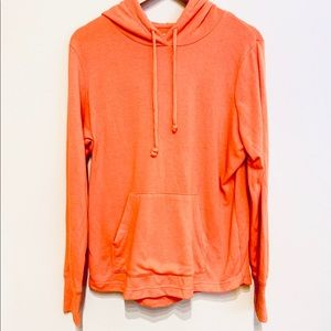 French Terry Soft Orange Hoodie NWOT